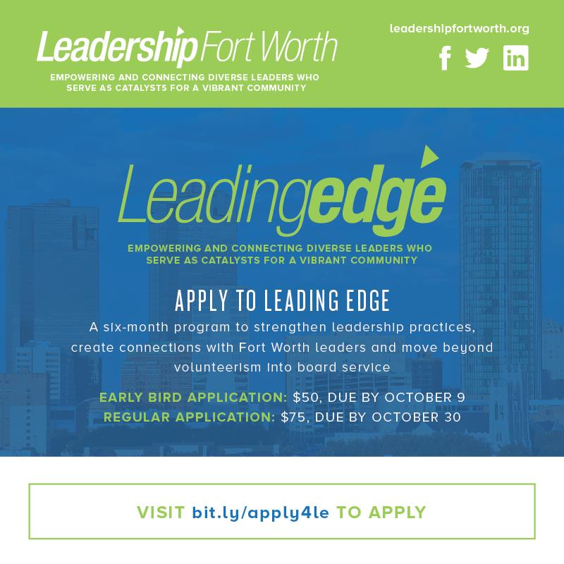 Leading Edge Apps Due Oct 30
